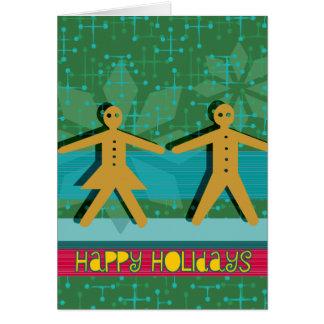 ジンジャーブレッドの幸せな休日カード カード
