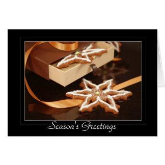 ジンジャーブレッドの星のクッキー カード