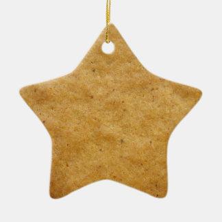 ジンジャーブレッドの星形のクッキー-シナモン セラミックオーナメント