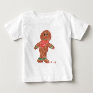 ジンジャーブレッドの男の子 ベビーTシャツ