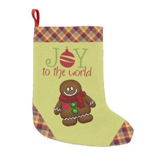 ジンジャーブレッドマンのクリスマスのストッキング スモールクリスマスストッキング