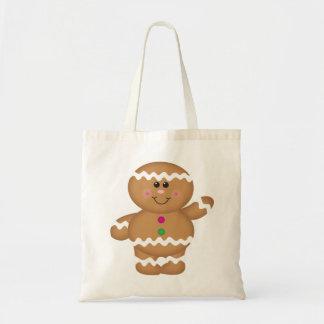 ジンジャーブレッドマンのクリスマスのバッグ トートバッグ