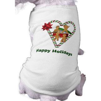 ジンジャーブレッドマンのクリスマスの休日犬 ペット服