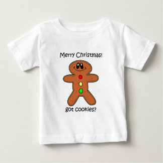 ジンジャーブレッドマンのクリスマス ベビーTシャツ