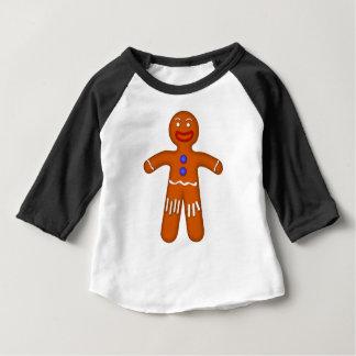 ジンジャーブレッドマンのスケッチ ベビーTシャツ