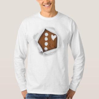 ジンジャーブレッドマンのハート Tシャツ