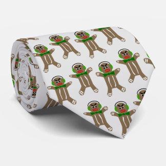 ジンジャーブレッドマンのプリントのネクタイ ネクタイ