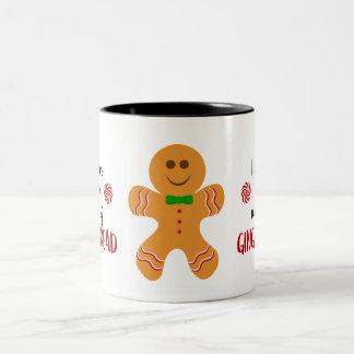 ジンジャーブレッドマンのマグを好んで下さい ツートーンマグカップ