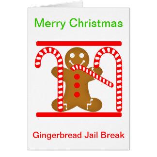 ジンジャーブレッドマンの刑務所の壊れ目 カード