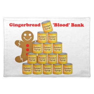 ジンジャーブレッドマンの血液銀行 ランチョンマット