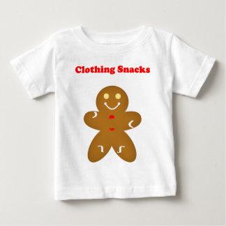 ジンジャーブレッドマンの衣類の軽食 ベビーTシャツ