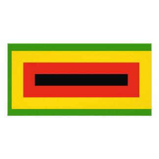 ジンバブエのアフリカの国民連合の旗 カード