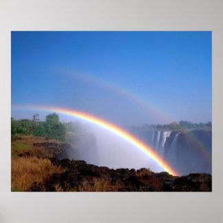 ジンバブエのヴィクトリア滝の国立公園。 倍 ポスター