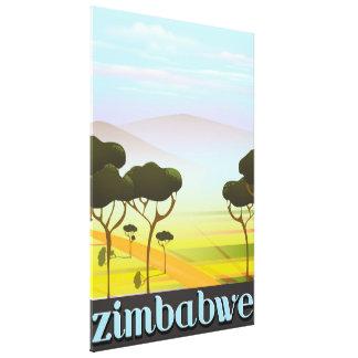 ジンバブエの休暇旅行ポスター キャンバスプリント