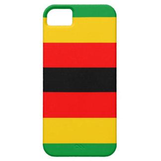 ジンバブエの国旗の箱の緑の黄色の赤い黒 iPhone SE/5/5s ケース