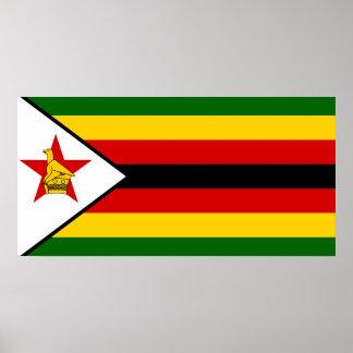 Zimbabwe National World Flag