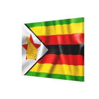 ジンバブエの旗 キャンバスプリント