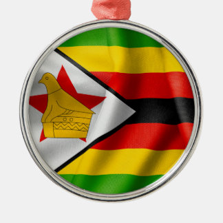 ジンバブエの旗 メタルオーナメント