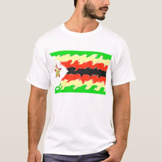 ジンバブエの旗 Tシャツ