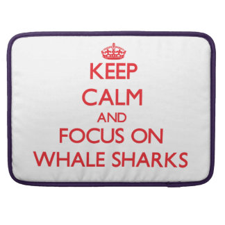 ジンベイザメの平静そして焦点を保って下さい MacBook PROスリーブ