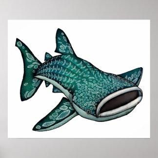 ジンベイザメの絵 ポスター