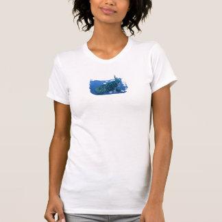 ジンベイザメレディース細い肩ひもの一重項 Tシャツ