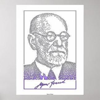 ジークムント・フロイト。 オーストリアの神経学者[008] ポスター