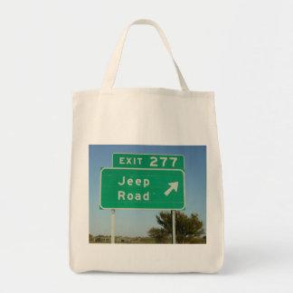 ジープの交通標識 トートバッグ