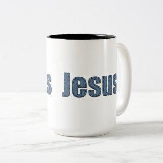 ジーンの物質的な効果イエス・キリスト ツートーンマグカップ