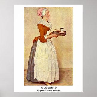 ジーンエチエンヌLiotard著チョコレート女の子 ポスター