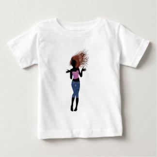 ジーンズの不足分4の女の子 ベビーTシャツ
