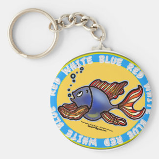 ジーンズの魚 キーホルダー