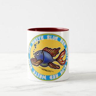 ジーンズの魚 ツートーンマグカップ