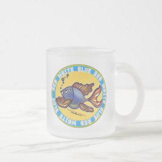 ジーンズの魚 フロストグラスマグカップ