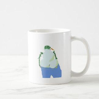 ジーンズのsnowwoman wのお尻 コーヒーマグカップ