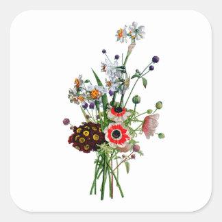 ジーンルイPrevostのスイセンの花束 スクエアシール