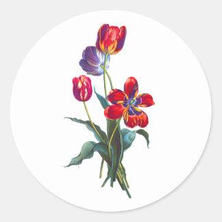 ジーンルイPrevostのチューリップの花束 ラウンドシール