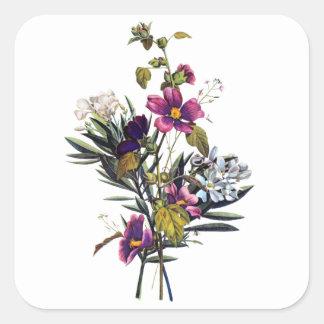 ジーンルイPrevostの混合された花の花束 スクエアシール