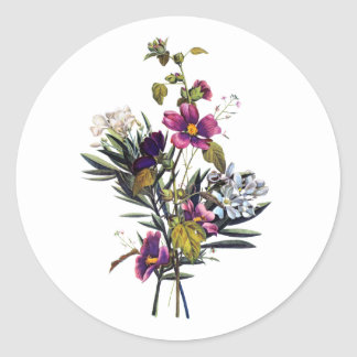ジーンルイPrevostの混合された花の花束 ラウンドシール