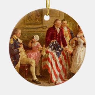 ジーンレオンGerome Ferris著Betsy Ross 1777年 セラミックオーナメント