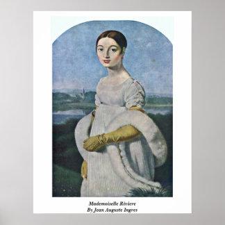 ジーンAuguste Ingres著マドモアゼルRiviere ポスター