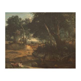 ジーンBaptisteカミーユCorot -森林の ウッドウォールアート