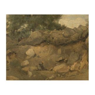 ジーンBaptisteカミーユCorot -石造り鉱山 ウッドウォールアート