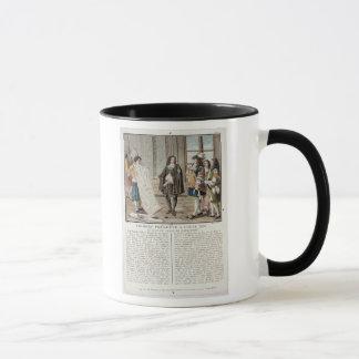 ジーンBaptiste Colbert (1619-83年)は地図oを示します マグカップ