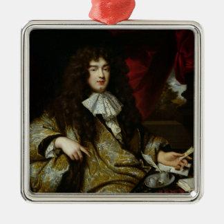 ジーンBaptiste Colbert Marquis de Seignelay シルバーカラー正方形オーナメント