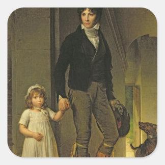 ジーンBaptiste Isabeyおよび彼の娘 スクエアシール