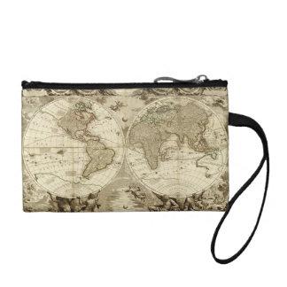 ジーンBaptiste Nolin著1708年の世界地図 コインパース