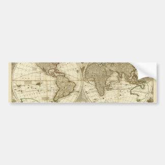 ジーンBaptiste Nolin著1708年の世界地図 バンパーステッカー