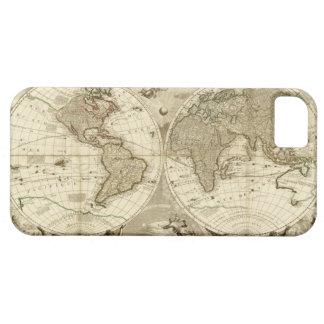 ジーンBaptiste Nolin著1708年の世界地図 iPhone SE/5/5s ケース