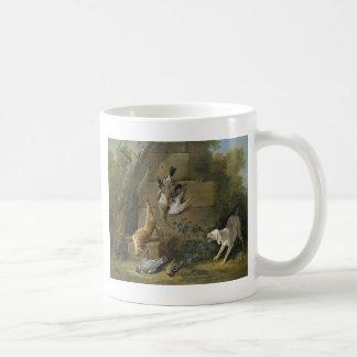 ジーンBaptiste Oudry著死んだゲームを守っている犬 コーヒーマグカップ